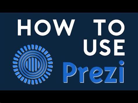 How To Use Prezi - YouTube