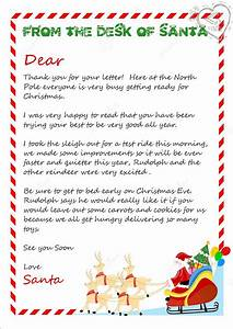 3 piece printable christmas letter from santa love a With free christmas letters from santa