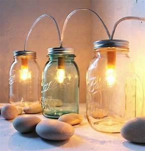 bocaux en verre 90 idees comment les transformer en With idee deco cuisine avec objet deco en verre