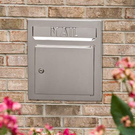 recessed stainless steel locking mailbox wall mount