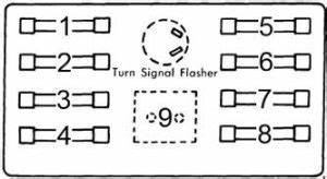 Dodge A100  1964 - 1970  - Fuse Box Diagram