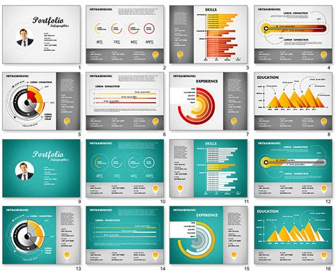 6 best images of resume infographic powerpoint template