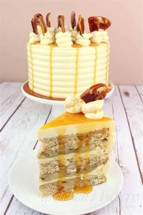 bananas foster cake gretchens vegan bakery