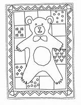 Quilt Coloring Pages Coloringpages Drawing Albums Printable Getcolorings Bear Getdrawings sketch template