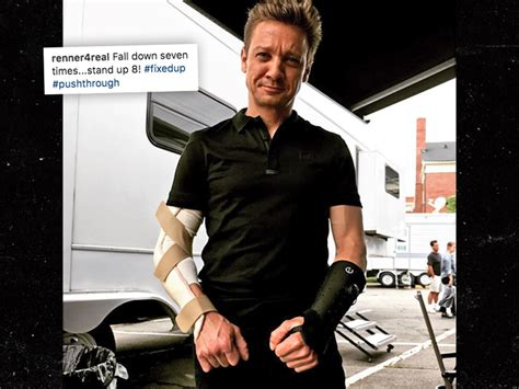 Jeremy Renner Hurt His Arm Wrist Probably The Set