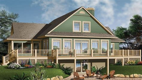 waterfront house floor plans small house plans walkout basement waterfront home plans