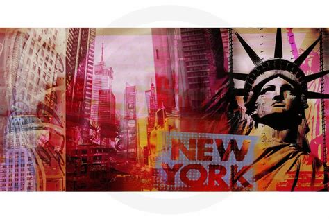 Pop New York Kunst Bild Moderne Pop Kunst Collage