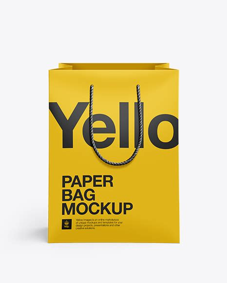 Ready to use in your projects, app and showcases. Rope Handle Paper Bag Mockup Half Side View - Matte Paper ...