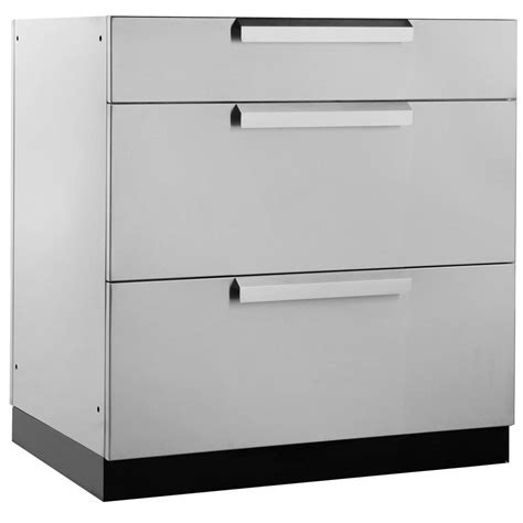 kitchen cabinet metal drawer boxes newage products stainless steel classic 32 in 3 drawer