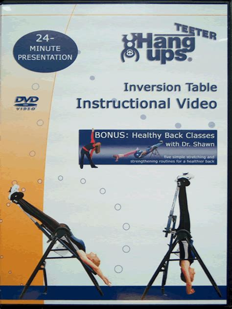 teeter inversion table instructional video teeter hang ups inversion table site map