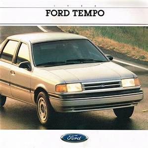 1988 Ford Tempo Brochure  Catalog  Lx Gl Gls 2300 Hsc 4wd
