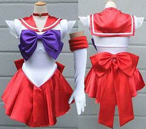 Sailor Moon cosplay costume Sailor Mars dress Raye up