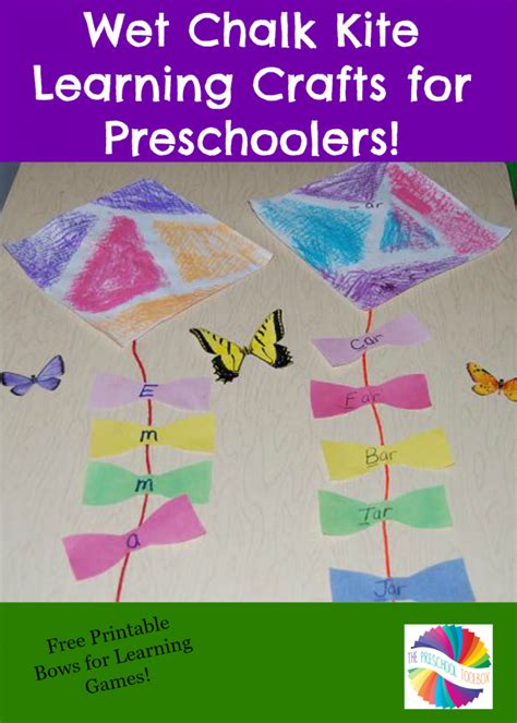 chalk kite crafts and learning for 559 | Wet Chalk Kite Learning Crafts for Preschoolers 731x1024