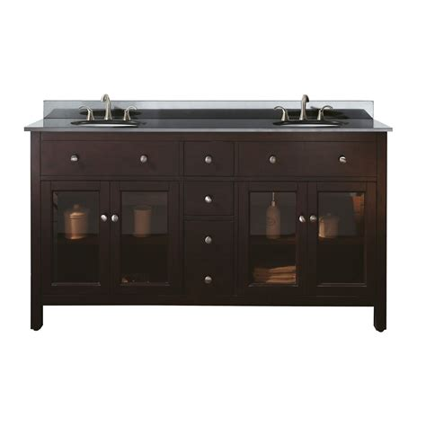 60 inch double sink vanity top avanity lexington 60 inch w double vanity with granite top