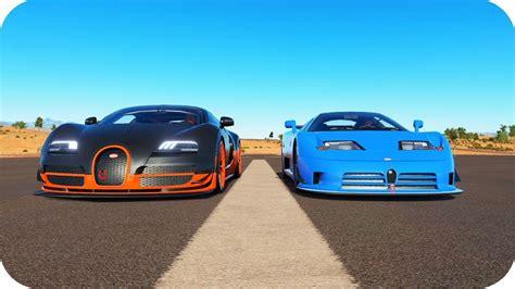 Vs Bugatti by Bugatti Veyron Ss Vs Bugatti Eb110 Ss Motor W16 8