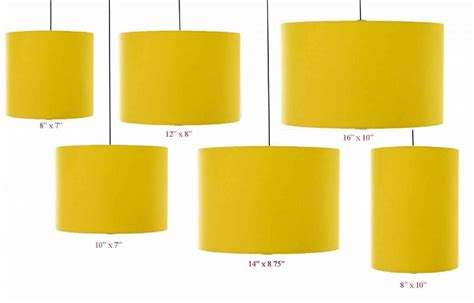 Euro Lamp Shade by Mustard Yellow Drum Cylinder Lampshade 20cm 25cm 30cm 35cm