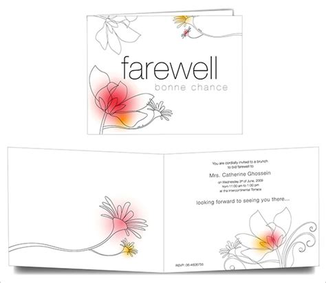 printable goodbye cards farewell card template 23 free printable word pdf psd