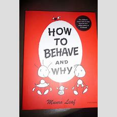 How To Behave And Why  Book Review Everywhere