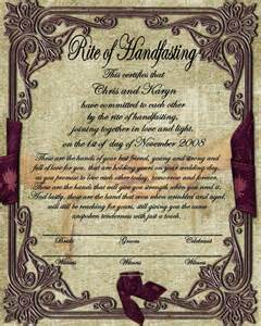 celtic wedding invitations handfasting certificate free second choice