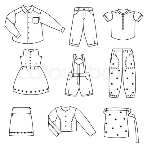 toy box label template doll clothes children clothes stock vector colourbox