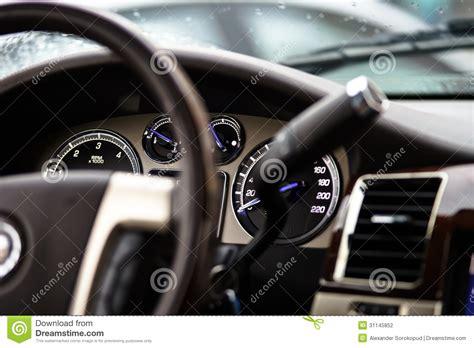 luxury car dashboard stock photography image