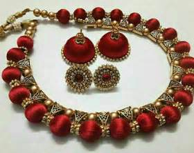 jhumka earrings gold thread earrings etsy
