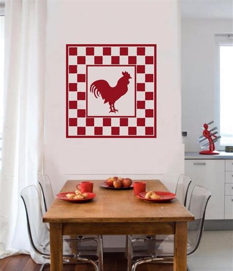 country kitchen wall decals rooster chicken vinyl decal wall sticker primitive country 6169