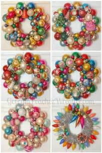 how to make a christmas wreath out of vintage ornaments georgia peachez secrets retro
