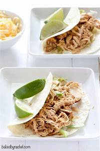 Easy Slow Cooker Chicken Tacos Baked by Rachel