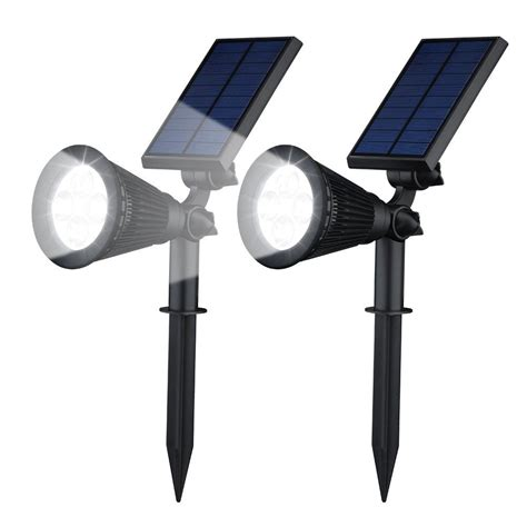 geeek solar garden lights led spotlight 2 pieces