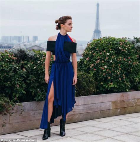 Emma Watson Plugs Ethical Fashion She Promotes New Film