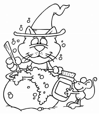 Cat Halloween Mouse Coloring Dustin Pages Pike