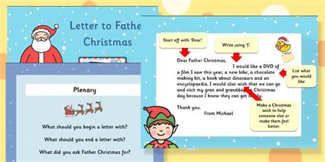 twinkl resources letter  father christmas task setter