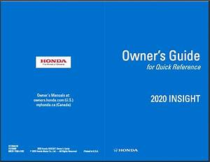2020 Honda Insight Owners Guide