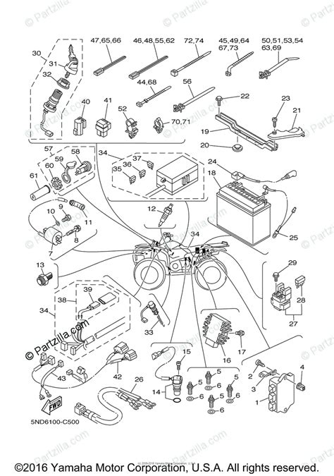 yamaha atv 2004 oem parts diagram for electrical 1 partzilla com