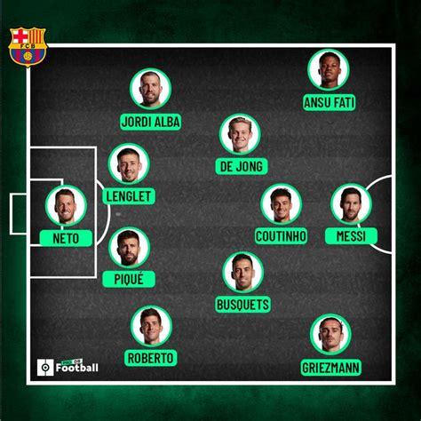 Las posibles alineaciones del Barcelona vs. Real Madrid ...