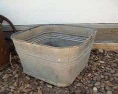 Old Fashioned Square Tub Sandy Travel Metal Wash