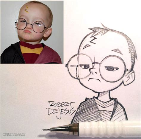 beautiful photo  cartoon drawings  robert dejesus