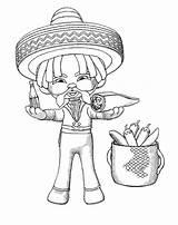 Coloring Mexican Sombrero Pages Cinco Mayo Burrito Eat Printable Getcolorings sketch template