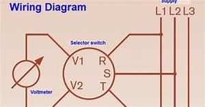 Voltmeter Selector Switch Wiring Diagram For Three Phase