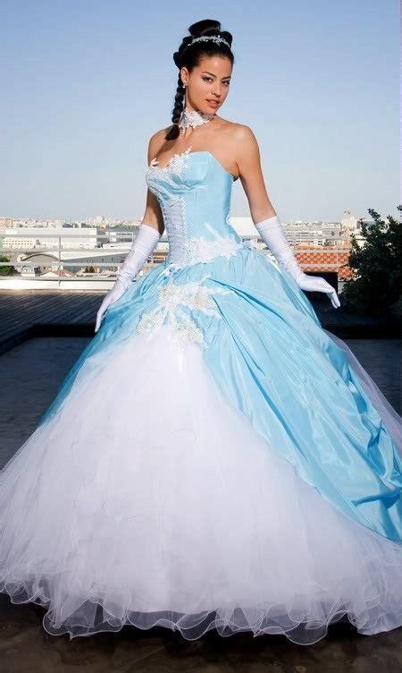 robe de mari 233 e blanche et bleu