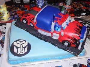 Transformers Optimus Prime Birthday Cake