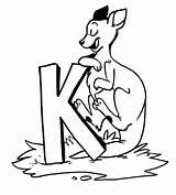 Kangaroo Coloring Pages Printable Animal Animalplace sketch template