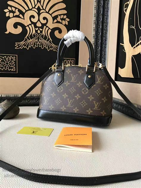 louis vuitton monogram canvas lovely birds alma bb