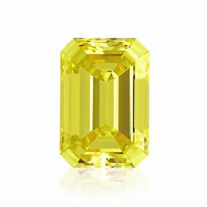 Yellow Fancy Vivid Emerald Diamond Diamonds Shape