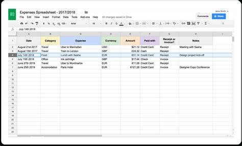 rideshare spreadsheet db excelcom
