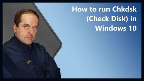 run chkdsk check disk  windows  youtube