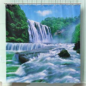 waterfall shower curtain ebay