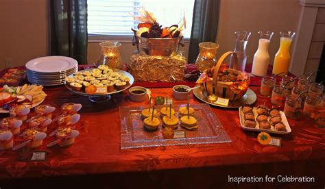 fall breakfast ideas church banquet ideas the spread for the food i wanted to keep the flavors consistent with