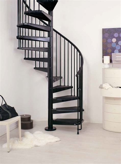 Spacesaver Staircases by Arke Civik Painted Interior Spiral Stair Kit Loft Centre